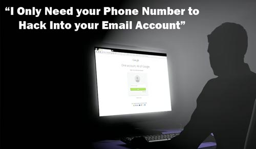 Hack email with phone number
